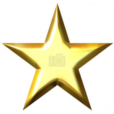 3D Golden Star