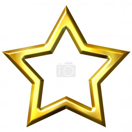 3D Golden Star Frame