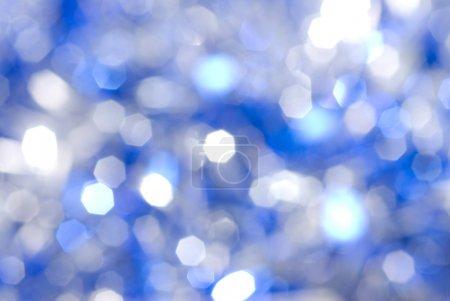 蓝色圣诞灯背景_高清图片_邑石网