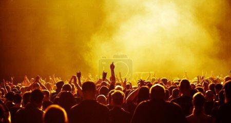 Yellow Concert Crowd