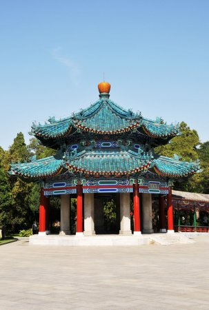 Pavilion building in Chinese style